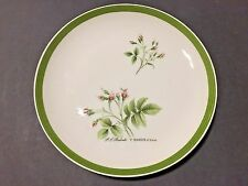 """RARE HUTSCHENREUTHER GERMANY PORCELAIN 8"""" PLATE DISH PJ REDOUTE ROSEBUDS FLOWERS"""