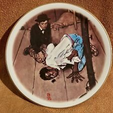 """Norman Rockwell """"Listening"""" The Adventures Of Huck Finn Collectors Plate 1980"""