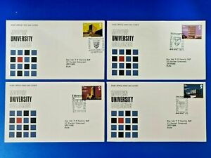 Set of 4 GB First Day Covers 22 Sept 1971, Modern University Buildings NZ6