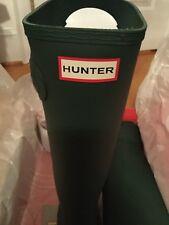 New Hunter Womens Original Tall Wellington Boots Green Size 8