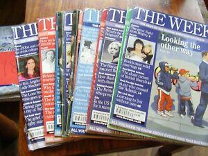 JOB LOT X 10 THE WEEK NEWS CURRENT AFFAIRS MAGAZINES 2007 GORDON BROWN BIRKIN