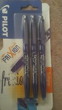 Pilot Frixion Erasable Rollerball 0.7 mm Tip - Blue, Pack of 3
