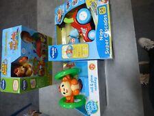 Lot éveil bébé 4 jouets (Vtech et Lego)