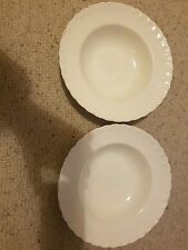 GRINDLEY  'Cream Petal' 2 x Vintage Soup Plates 22.5cm. Made in England