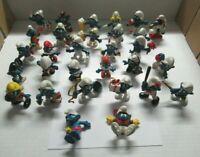 Lot of 30 Schleich Peyo Smurf figures. Papa Smurfette Sports..