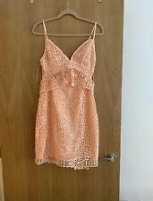 Guess Ladies Occasion Dress Peach Sleeveless New Tags Crochet
