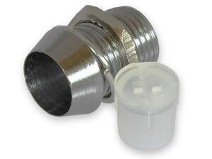 (10 Pcs) 5mm Chrome Metal LED Bezel Holder High Quality... USA SELLER!!!