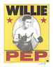 Willie Pep signed autographed Murray Tinkelman lithograph! RARE! AMCo!