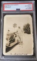 Babe Ruth PSA Type 1 Original Vintage Snapshot 1930s Photo Car New York Yankees