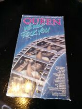 Queen Vhs We will Rock You Vintage 1986 Tape Classic Rock Collectibles
