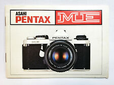 Pentax Me 35mm Film Camera Manual Instruction Book - English