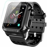 Apple Watch Series 6 5 4 Case with watch band + Screen Protector 44mm Shockproof