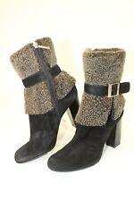 Donald J Pliner Womens 8 M Carmen Black Suede Winter Booties Heels Boots