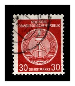 DDR Dienst - Mi.-Nr. D 38y AY gestempelt - geprüft Schönherr