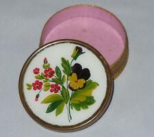 ancienne boite à bonbons / confiseries Epoque 1820 , Fixe sous verre fleurs XIXe