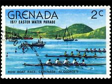 GRENADA VINTAGE POSTAGE STAMP ROWING PHOTO ART PRINT POSTER PICTURE BMP1690A