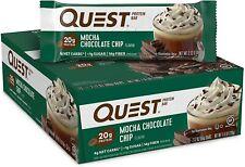 Quest | Protein Bar - 21g Protein, 15g Fiber, GF | Mocha Chocolate Chip, 12 bars