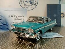 Franklin Mint 1958 Plymouth Belvedere.1:24.Rare Le Coupe.Nos.Docs.Undisplaye d