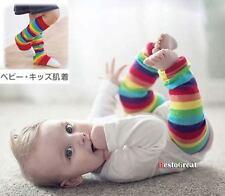 Unisex Baby Children Boys Girl Leg Protect Warm Leggings Rainbow Socks 30cm