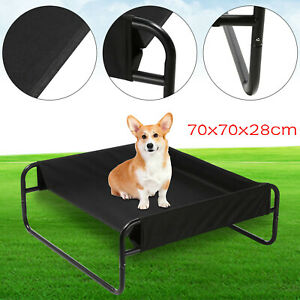 Indoor/Outdoor Portable Elevated Dog Pet Bed Waterproof Raised Camping Basket UK