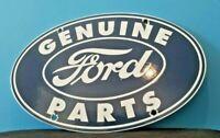 VINTAGE FORD MOTOR CO PORCELAIN GAS SERVICE AUTOMOTIVE SALES DEALERSHIP SIGN