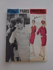 Vintage Vogue Paris Originals Lanvin 1213 Sewing Pattern 1960's Suit  SZ 12