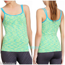 Marika Tek Seamless Tank Sportswear Yoga Built In Bra Top NWT L Large $56 Ocean