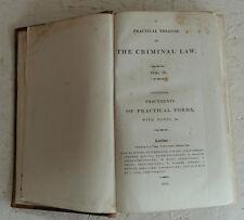 Vintage Book 1816 Chitty Practical Treatise Criminal Law Vol IV  H/B  Crime
