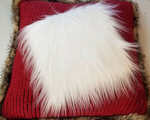 """White Faux Fur Fabric Small 9 x 10"""", 10 x 10"""" Craft Fur - Trimming - Decorating"""