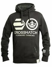 Crosshatch Men's Blankouts Borg Lined Sweatshirt Hoodie Black M