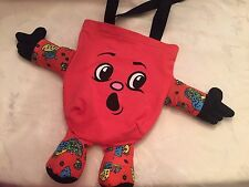 SALE! Jeremy Scott Red Cotton Terry and Silk Twill Dolly Tote Bag Handbag Bag