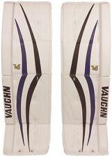 New Vaughn 1100 senior ice hockey goalie leg pads 35+2 Sr Velocity V6 Black/Blue