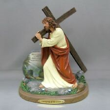 Carrying of the Cross Jesus Figurine - Thomas Kinkade - Religious Sculpture