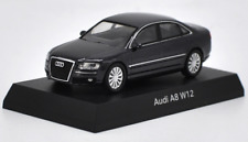 Kyosho 1/64 Alloy car model,Audi A8 W12 Collect gifts Black and Gray