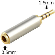 2.5mm Male to 3.5mm Female Stereo Mic Audio Headphone Jack Adapter Converter