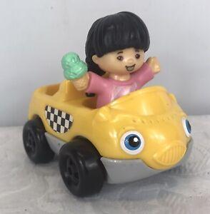 2001 Mattel Little People Car Plus Girl Figure with Ice Cream