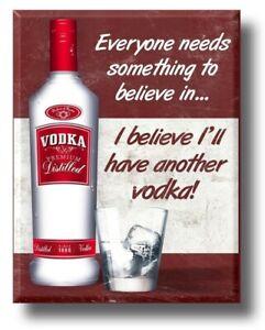 Funny Vodka Drinker Plaque plaque sign vintage kitchen bar man cave Christmas