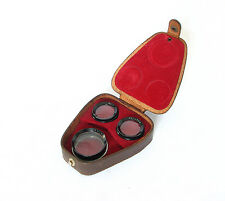 Minoltaflex TLR Camera's Macro Close Up No 1 Lens Kit In Leather Case, Rare