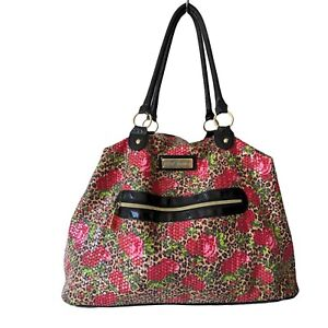 Betsey Johnson Travel Bag Animal Sequin Weekender Overnight Luggage Floral Tote