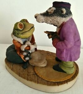Arden sculptures for Cosgrove Hall Productions wind in the willows Badger & toad