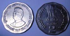 INDIA 2 Rupees 1997 Subhas Chandra Bose  UNC