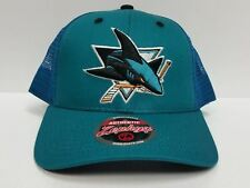 San Jose Sharks Zephyr Cap Adjustable Screenplay Snapback Mesh Hat NHL
