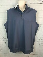 Adidas Classic Golf Vest Men's Large 1/4 Zip Pullover Blue Collared Top NWT New