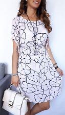 ★Longshirt Minikleid Tunika Shirtkleid STRETCH Carmen Blumen rosa rose ★ S M/L