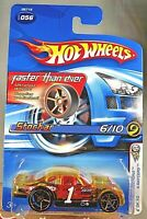 2005 Hot Wheels #56 First Editions-Faster Than Ever 6/10 STOCKAR Yellow w/FTE Sp