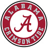 Jacket or Shirt Stitch on Embroidered Patch Alabama Crimson Tide size 3½""