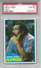 1981 TOPPS #90 HENRY BIBBY CLIPPERS PSA 10 GEM MINT LOW POP