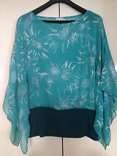 GORGEOUS LADIES BIG CITY CHIC GREEN PRINT TOP ~ SIZE 14  ~ AS NEW