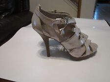 COACH AENYA BEIGE BUCKLED OPEN TOE WOMEN DESIGNER SHOES SANDALS  10 NEW