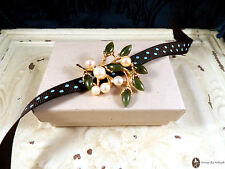 Pearl and Green Jade Vintage Brooch